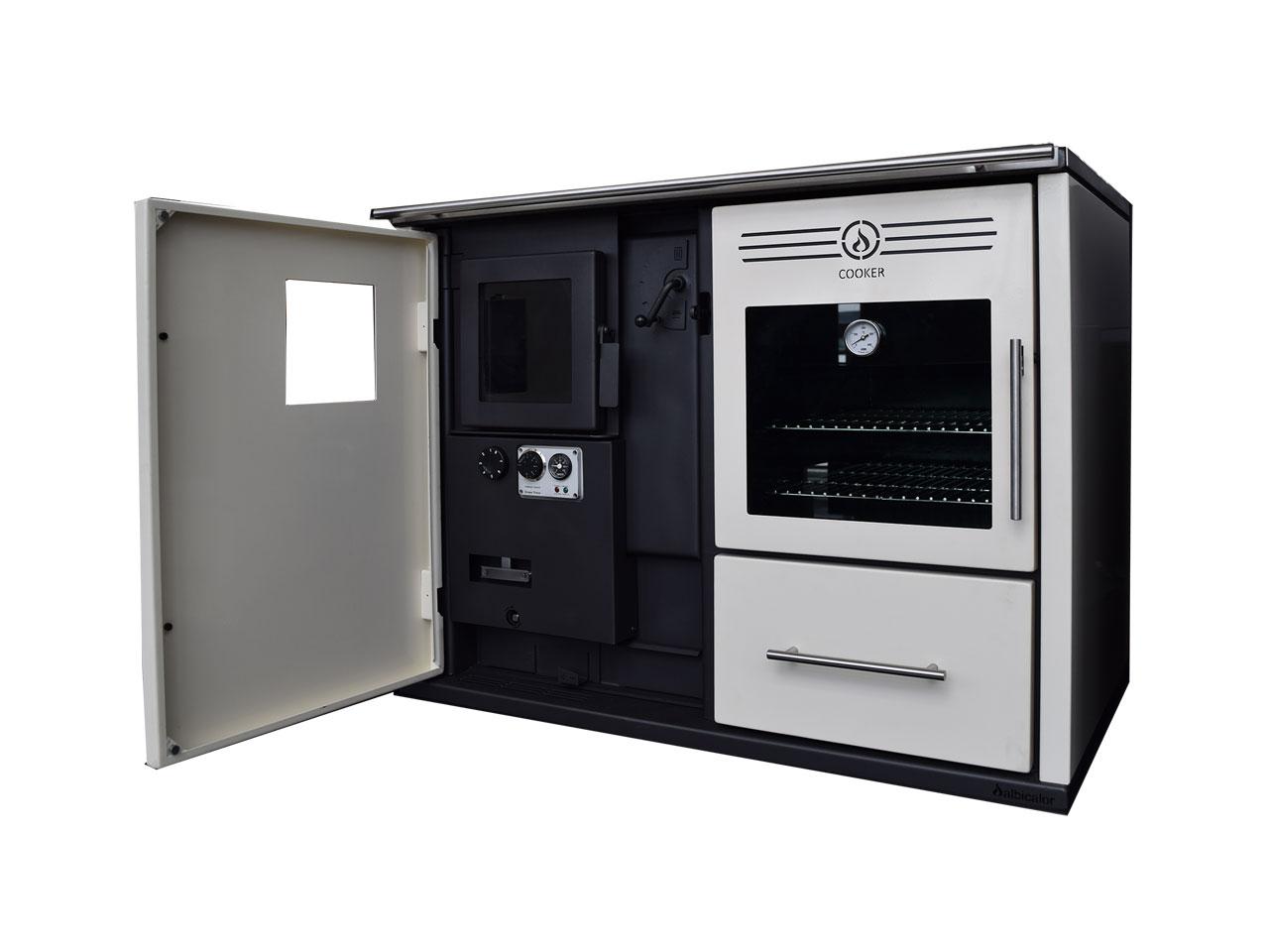 Cocina calefactora de le a efilume for Cocinas calefactoras de lena precios